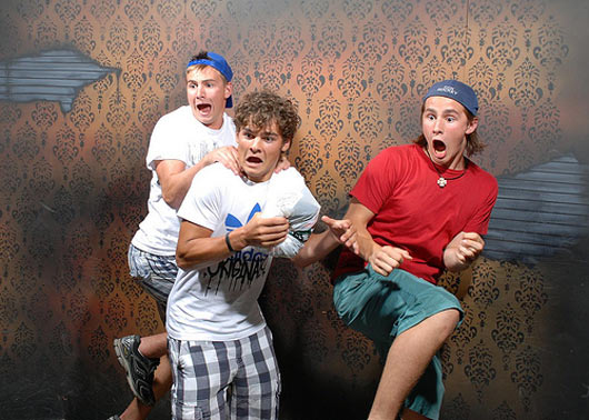 Scared boys