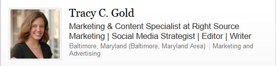 My LinkedIn headline.