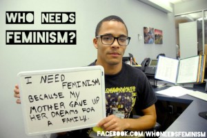 """Who Needs Feminism?"" poster"