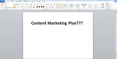 Content Marketing Plan - Blank Screen