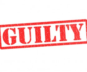 "Image of the word ""Guilty"""