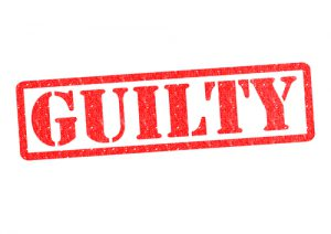 """Image of the word """"Guilty"""""""