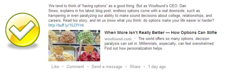 Good LinkedIn Example