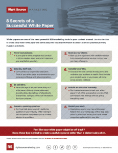8 Secrets of a Successful White Paper - image