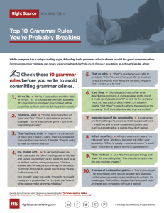 Top 10 Grammar Rules