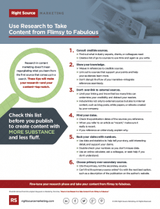 Use Research to Take Content from Flimsy to Fabulous