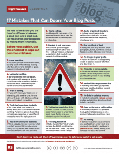 17 Mistakes That Can Doom Your Blog Posts