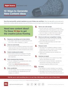 10 Ways to Generate New Content Ideas Checklist