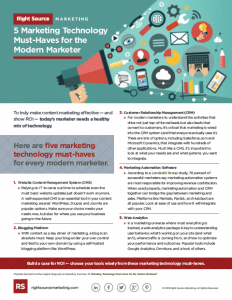 5 Marketing Technology Must-Haves