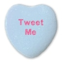 Tweet Me Candy Heart
