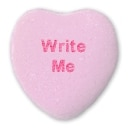 Write Me Candy Heart