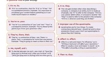 Checklist: Top 10 Grammar Rules You're Probably Breaking