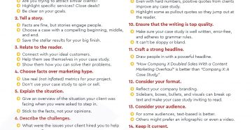 Checklist: 15 Steps to Creating a Killer Case Study
