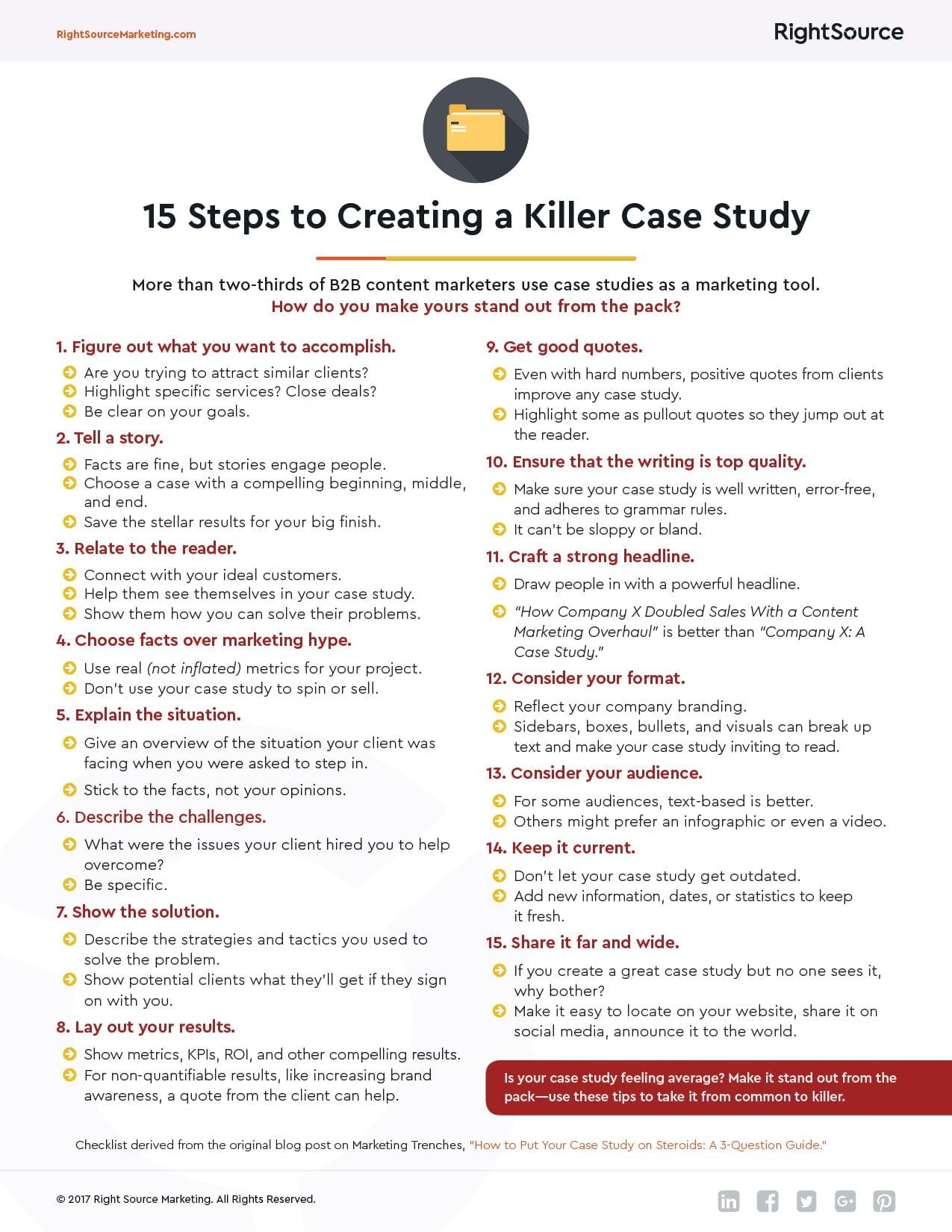 creating case studies