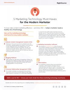 Checklist: 5 Marketing Technology Must-Haves