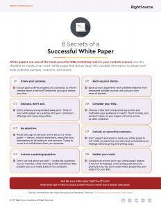 Checklist: 8 Secrets of a Successful White Paper