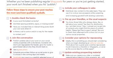 Checklist: 8 Things To Do After You Publish Your Next Blog Post