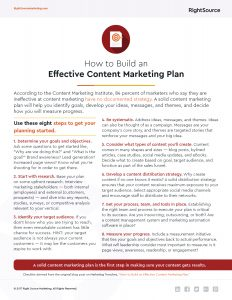 Checklist: How to Build an Effective Content Marketing Plan