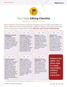 Checklist: The 7-Step Editing Checklist