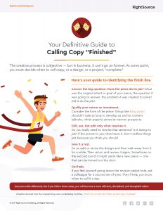 """Checklist: Your Definitive Guide to Calling Copy """"Finished"""""""