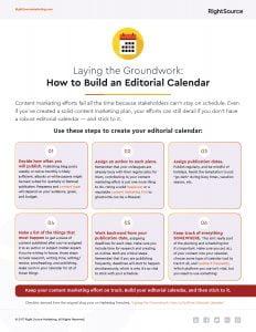 Checklist: How to Build an Editorial Calendar