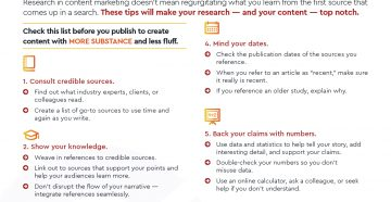 Checklist: Use Research to Take Content from Flimsy to Fabulous