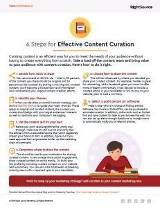 RSM CHecklist: 6 Steps for Effective Content Curation