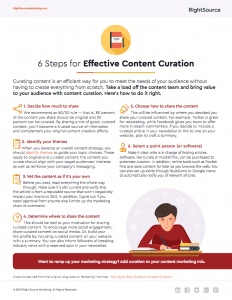 6 Steps for Effective Content Curation