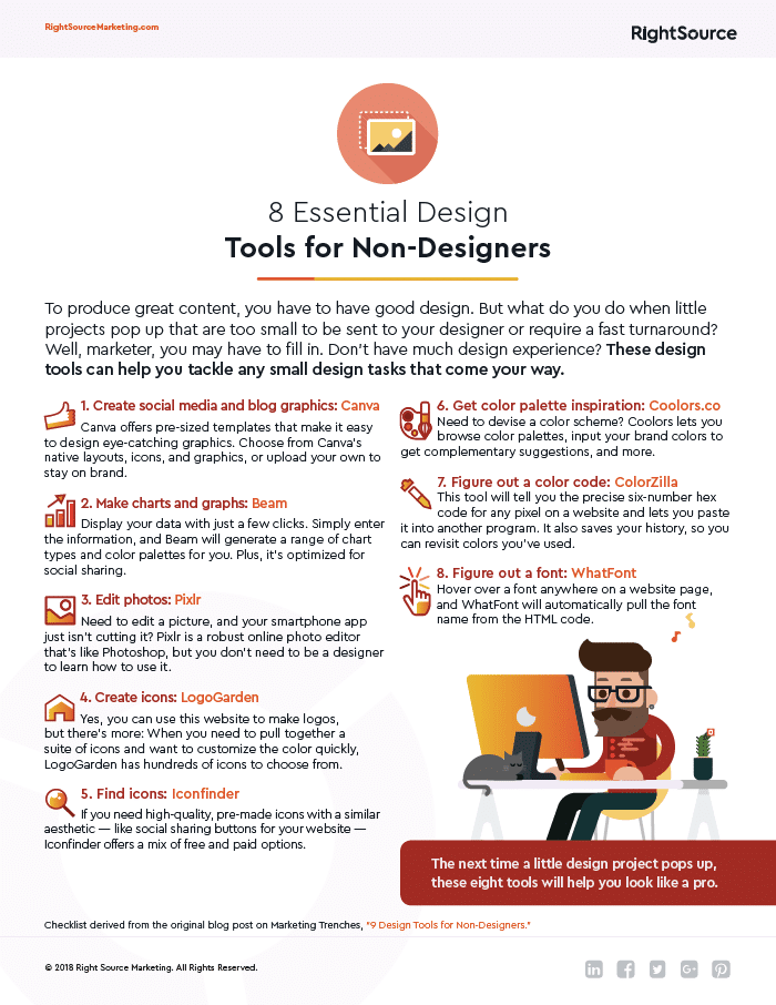 Design Tools Checklist image - Right Source Marketing