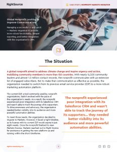 Nonprofit Marketo Migration Case Study